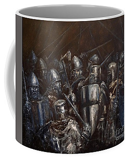Medieval Battle Coffee Mug by Arturas Slapsys