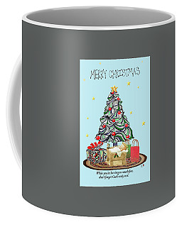 Coffee Mug featuring the drawing Merry Christmas by Quwatha Valentine