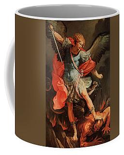 Michael Defeats Satan Coffee Mug
