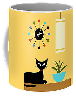 Mid Century Ball Clock 3 Coffee Mug