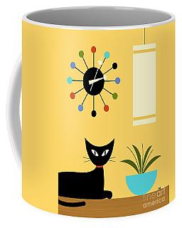 Coffee Mug featuring the digital art Mid Century Ball Clock 3 by Donna Mibus