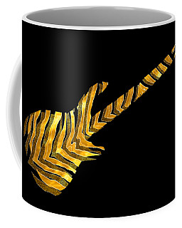 Coffee Mug featuring the digital art Midas Bass by Guitar Wacky