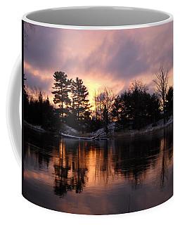 Mississippi River Dawn Light Coffee Mug by Kent Lorentzen