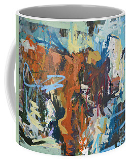Mixed Media Cow Painting Coffee Mug