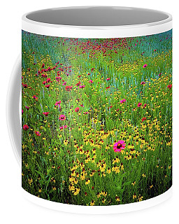 Coffee Mug featuring the photograph Mixed Wildflowers In Bloom by D Davila