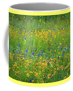 Coffee Mug featuring the photograph Mixed Wildflowers In Texas 538 by D Davila
