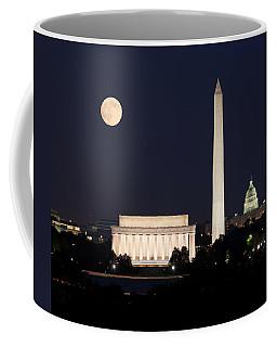 Moon Rising In Washington Dc Coffee Mug