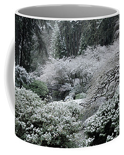 Morning Snow In The Garden Coffee Mug