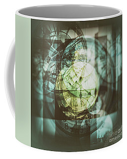 Coffee Mug featuring the photograph Multi Exposure Clock   by Ariadna De Raadt