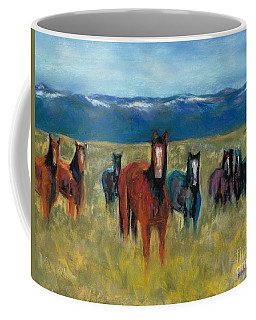 Mustangs In Southern Colorado Coffee Mug
