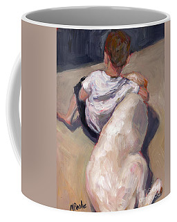 Coffee Mug featuring the painting My Beau by Molly Poole