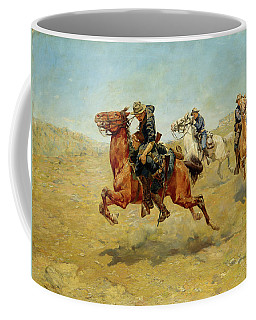 Coffee Mug featuring the painting My Bunkie by Charles Schreyvogel
