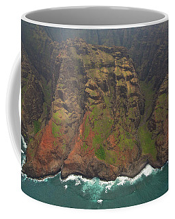 Napali Coast Aerial Coffee Mug