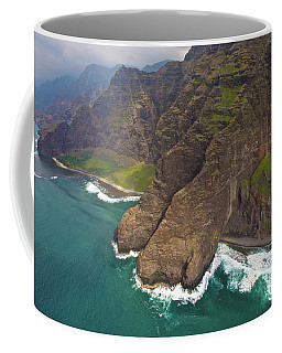 Napali Coastline Aerial Coffee Mug