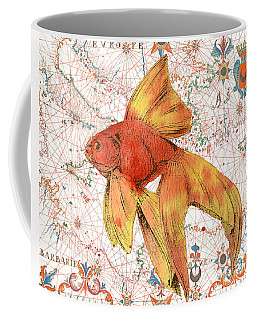 Coffee Mug featuring the painting Nautical Treasures-g by Jean Plout