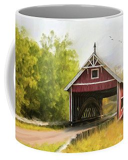 Netcher Road Covered Bridge Coffee Mug by Mary Timman