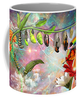 Coffee Mug featuring the digital art New Life by Dolores Develde