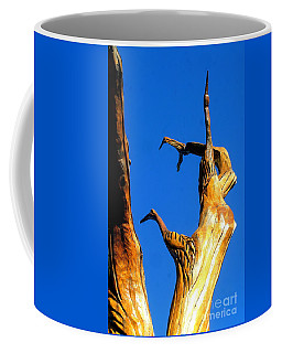 New Orleans Bird Tree Sculpture In Louisiana Coffee Mug by Michael Hoard