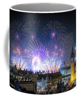 New Year Fireworks Coffee Mug