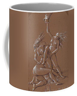 New Year's Greeting With Three Witches  Coffee Mug