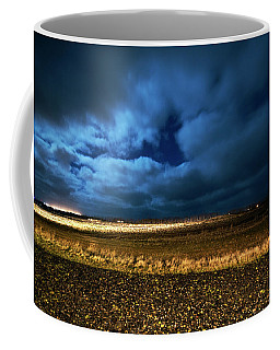 Coffee Mug featuring the photograph Icelandic Night  by Dubi Roman