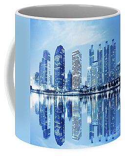 Night Scenes Of City Coffee Mug
