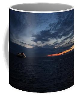 Coffee Mug featuring the pyrography  Night Sea by Yury Bashkin