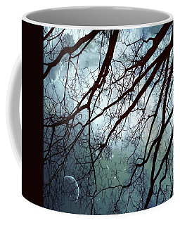 Coffee Mug featuring the photograph Night Sky In The Woods by Marianna Mills