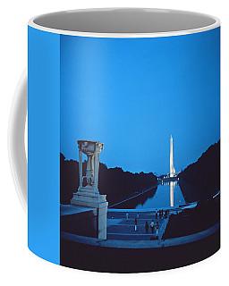 Night View Of The Washington Monument Across The National Mall Coffee Mug
