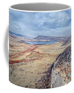 northern Colorado foothills aerial view Coffee Mug