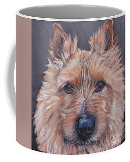 Coffee Mug featuring the painting Norwich Terrier by Lee Ann Shepard