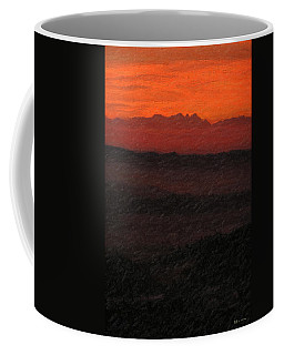 Not Quite Rothko - Blood Red Skies Coffee Mug