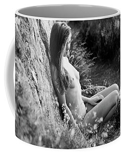 Nude Girl In The Nature Coffee Mug