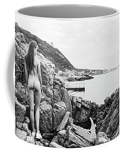 Nude Girl On Rocks Coffee Mug