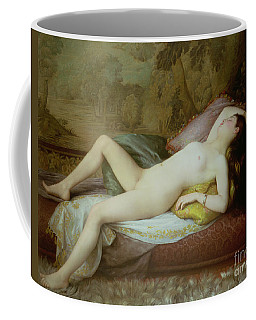 Nude Lying On A Chaise Longue Coffee Mug