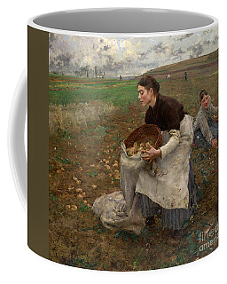 Coffee Mug featuring the painting October by Celestial Images