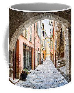 Old Street In Villefranche-sur-mer Coffee Mug