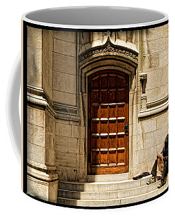 Coffee Mug featuring the photograph On The Doorstep by Lars Lentz