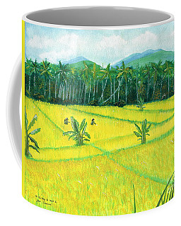 Coffee Mug featuring the painting On The Way To Ubud II Bali Indonesia by Melly Terpening