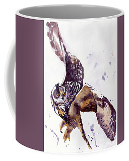 Owl Watercolor Coffee Mug