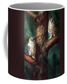 Owls In Moonlight Coffee Mug