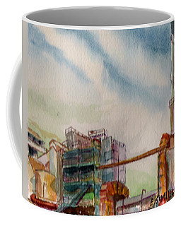 Coffee Mug featuring the painting Paia Mill 2 by Eric Samuelson
