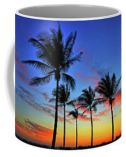 Palm Tree Skies Coffee Mug by Scott Mahon