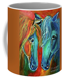 Coffee Mug featuring the painting Pals by Jenny Lee