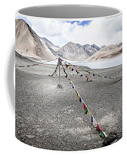 Coffee Mug featuring the photograph Pangong Tso Lkae by Alexey Stiop
