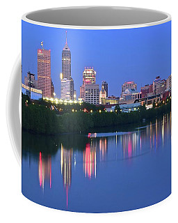 Panoramic Indianapolis Coffee Mug by Frozen in Time Fine Art Photography