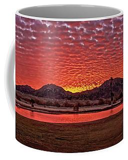 Coffee Mug featuring the photograph Panoramic Sunrise by Robert Bales