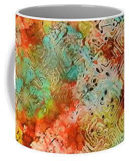 Coffee Mug featuring the painting Paprika Drift Ink #18 by Sarajane Helm