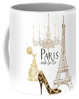 Paris - Ooh La La Fashion Eiffel Tower Chandelier Perfume Bottle Coffee Mug