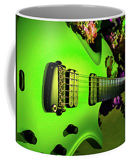 Coffee Mug featuring the digital art Parker Fly Guitar Hover Series by Guitar Wacky
